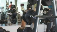 Stock Video Footage of Workout lifting weights