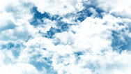 Stock Video Footage of Heaven Camera Fly through Clouds and Sky Animation