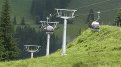 European Alps Kitzbuhel Austria Cable Car 2 Stock Footage
