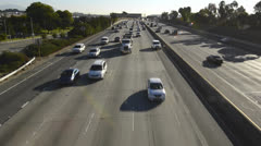 Pomona Freeway, Interstate 60 from a pedestrian overpass in East Los Angeles, Stock Footage