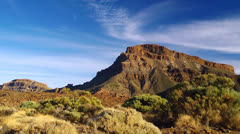 Mountain landscape, Tenerife island, Canary, Spain. Stock Footage