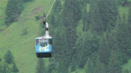 Stock Video Footage of European Alps Kitzbuheler Horn Austria 3 cable car