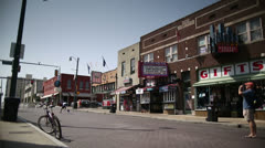 Beale Street Flipper wide shot 01 Stock Footage
