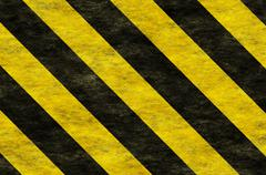 Black yellow hazard stripes Stock Illustration