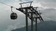 Stock Video Footage of European Alps Kitzbuheler Horn Austria 7 cable car