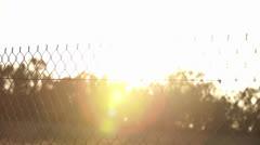 Sun Rays Through Fence Stock Footage