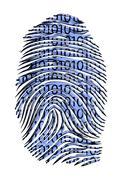 binary code id - stock illustration