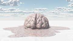 brain melt - stock illustration