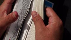 Changing Pages In The Bible Stock Footage