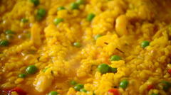 Paella rice cooking 2 Stock Footage