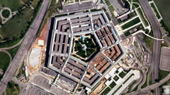 Satellite Zoom into U.S. Pentagon (25fps) - stock footage