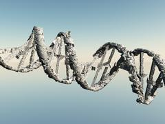 damaged dna strands - stock illustration