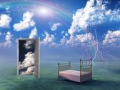 Stock Illustration of bed in fantasy landscape