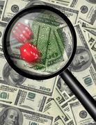 Stock Illustration of money gamble
