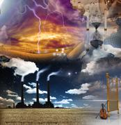 Surreal composition Stock Illustration