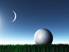 Night golf Stock Illustration