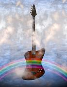 bass guitar - stock illustration