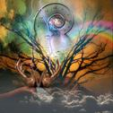 Stock Illustration of surreal artisitc image with time spiral