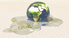 World euro melt Stock Illustration