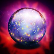 Crystal ball Stock Illustration