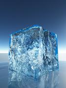 ice cube - stock illustration