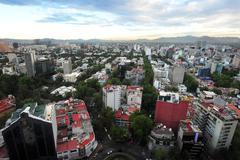 Matkakuvia Meksiko - Meksiko kaupunki kaupunkimaisema Kuvituskuvat
