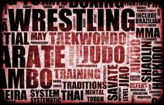 wrestling - stock illustration