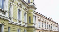 HD Detail of county building, Pozega Stock Footage