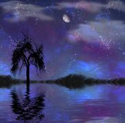 Night Scape - stock illustration