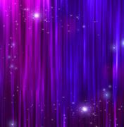 curtains with sparkle - stock illustration