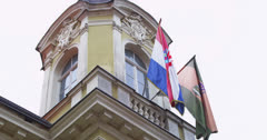 4K Detail of county building, Pozega Stock Footage