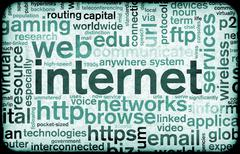 Stock Illustration of internet abstract