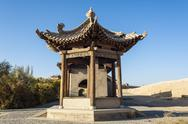 Stock Photo of ancient pavilion in jiayuguan castle, jiayuguan city, gansu of china