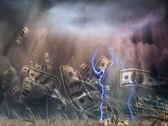 money storm - stock illustration