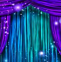 Stock Illustration of theater curtains