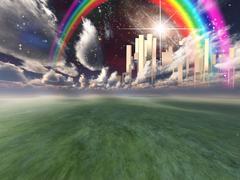 Heavenly city Stock Illustration