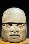 olmec colossal head - stock photo