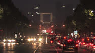 Stock Video Footage of Champs-Élysées at Night