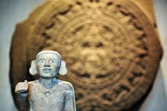Stone of the sun - aztec calendar Stock Photos