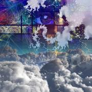 clouds and abstract - stock illustration