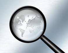 global investigate abstract - stock illustration