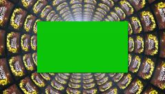 02 showtime and greenscreen Stock Footage