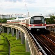 public subway transport - stock photo