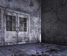 Stock Illustration of abandoned interior background