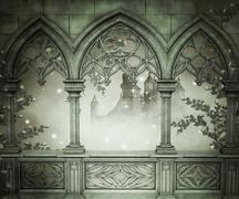 Palace interior background Stock Illustration