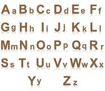 Coffee alphabet illustration Stock Illustration