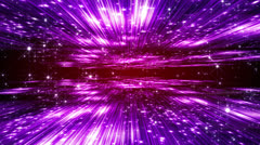 Abstract motion background, shining lights, particles, streaks, rays, loop Stock Footage