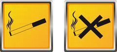 Icons cigarette for design illustration Stock Illustration