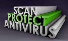 antivirus - stock illustration