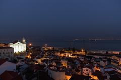Stock Photo of Europe, Portugal, Lisbon, Alfama, View of city with church of Sao Vicente de